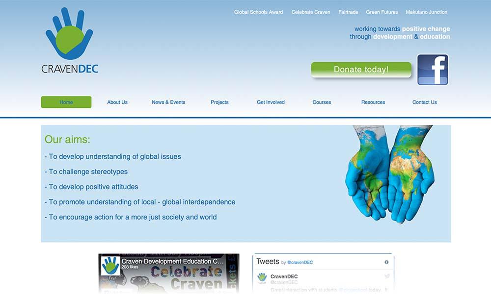 Craven DEC website screen shot