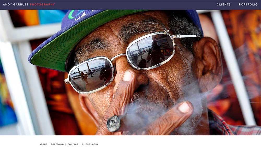 Andy Garbutt Photography website screen shot