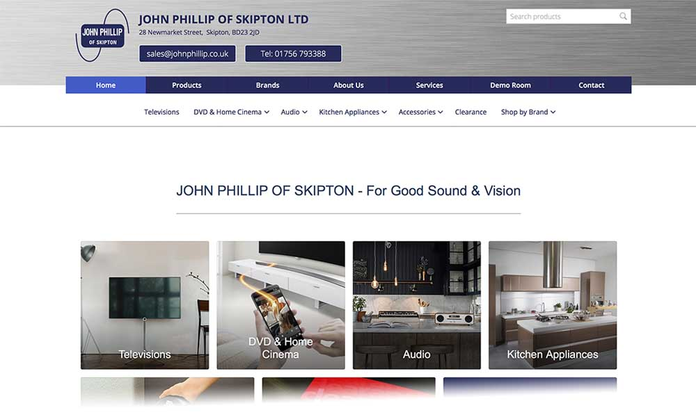 screen shot of John Phillip Skipton website