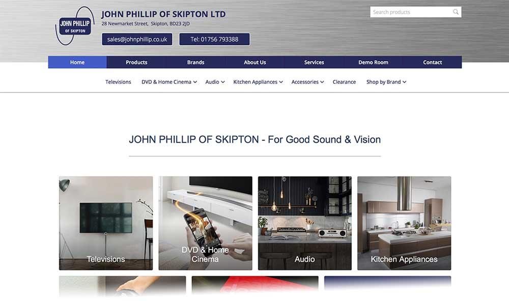 screen shot of John Phillip Skipton website