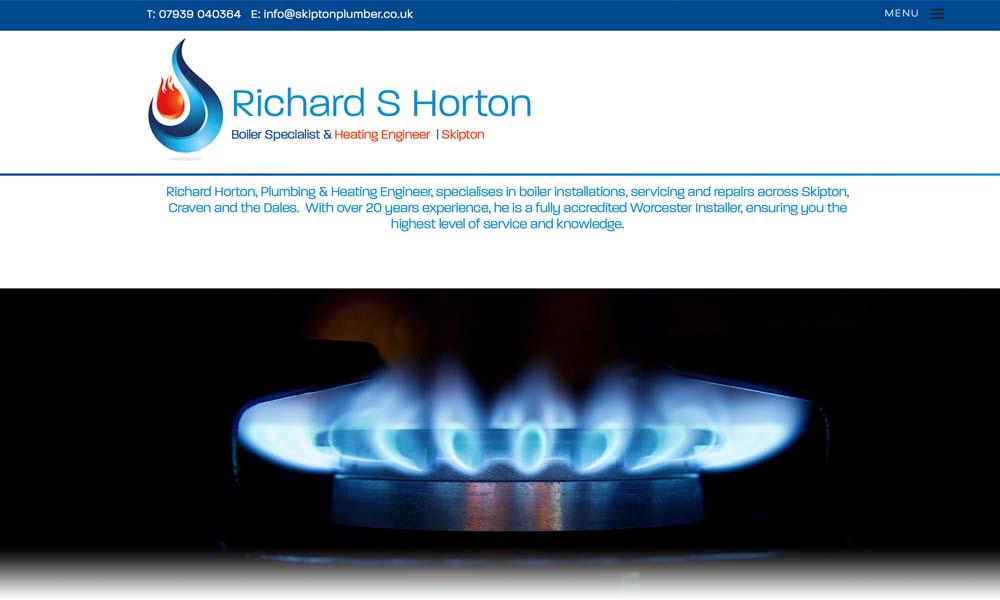 Richard Horton Skipton Plumber website screen shot