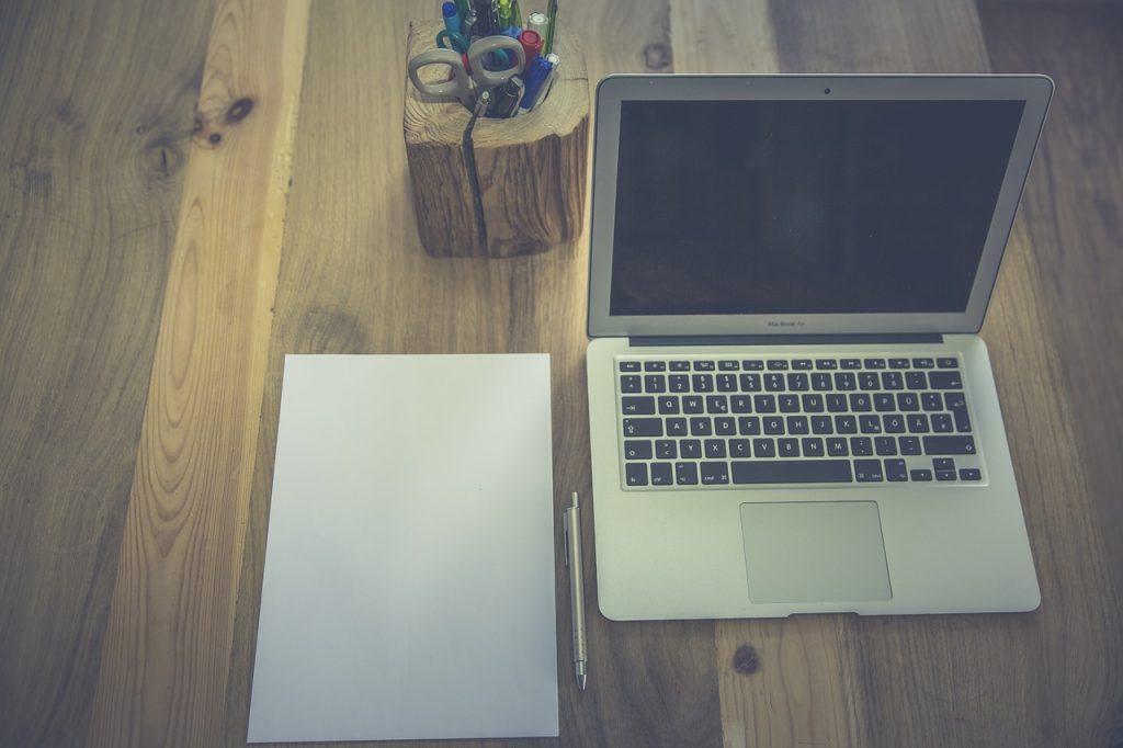 laptop on a desk image for web design