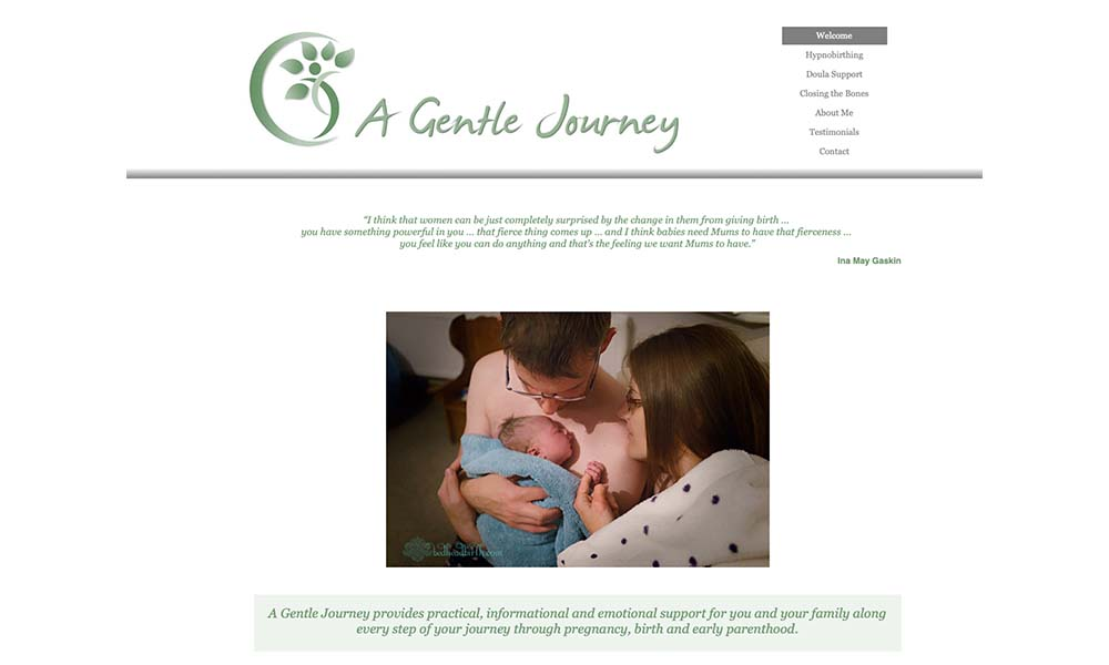 A Gentle Journey website
