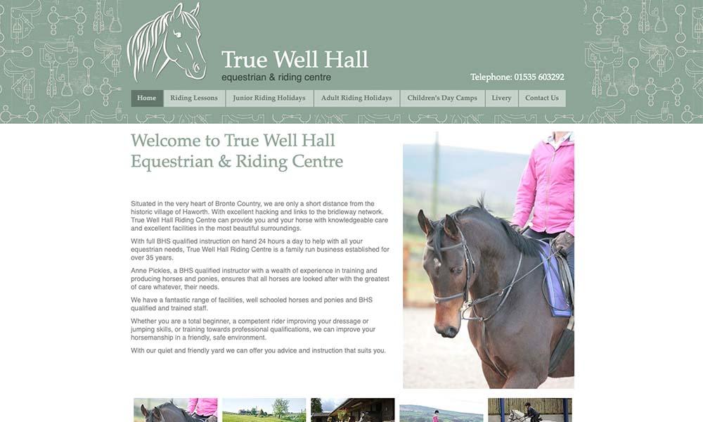 True Well Equestrian website