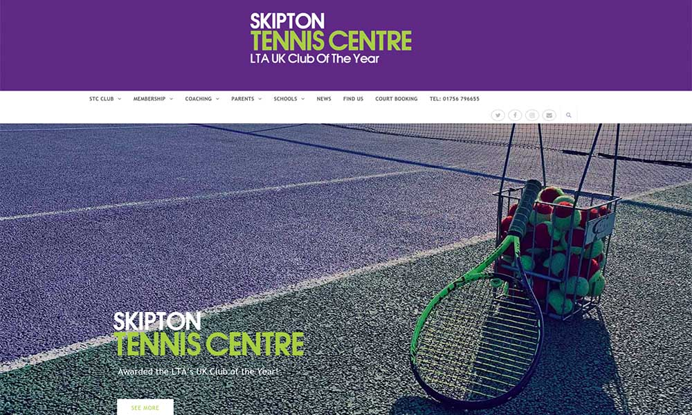 Skipton tennis centre website