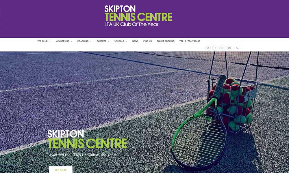 Skipton tennis centre website