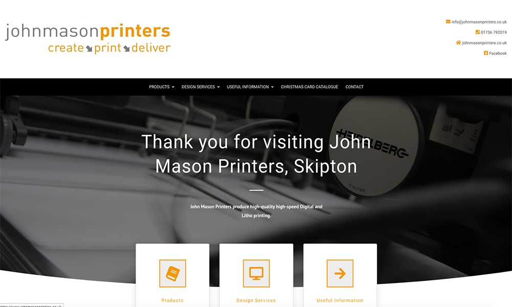 Charlotte Fox Marketing Web Design Skipton john mason printers
