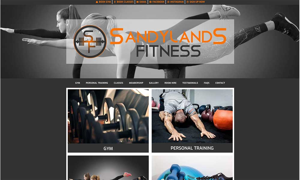 Charlotte Fox Marketing Web Design Skipton sandylands fitness